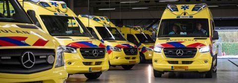 ambulances geparkeerd bestuurder
