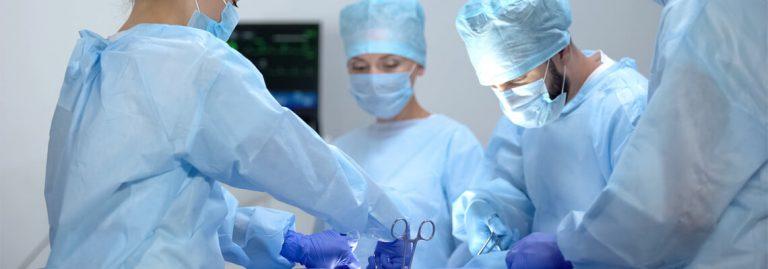 operatie instrumenten mondkapjes